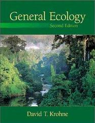 General Ecology 2nd edition 9780534375287 0534375286