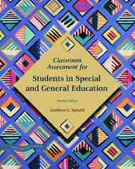Classroom Assessment for Students in Special and General Education 2nd Edition 9780131193536 0131193538