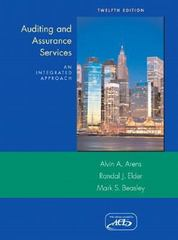 Auditing and Assurance Services 12th edition 9780136128274 0136128270