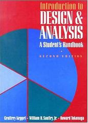 Introduction to Design and Analysis 2nd Edition 9780716723219 0716723212