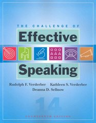 The Challenge of Effective Speaking 14th edition 9780495502173 0495502170