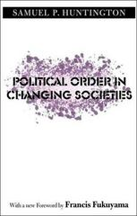 Political Order in Changing Societies 0 9780300116205 0300116209