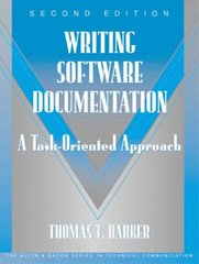 Writing Software Documentation 2nd Edition 9780321103284 0321103289
