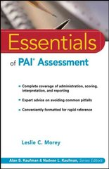 Essentials of PAI Assessment 1st Edition 9780471084631 0471084638