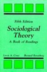 Sociological Theory 5th edition 9780881334579 088133457X