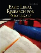 Basic Legal Research for Paralegals 2nd Edition 9780073520513 0073520519