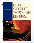 BETTER WRITING THROUGH EDITING: STUDENT TEXT 1st Edition 9780070498853 0070498857