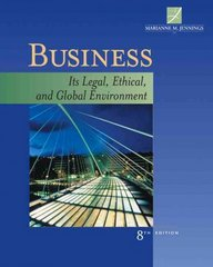 Business 8th Edition 9780324655544 0324655541