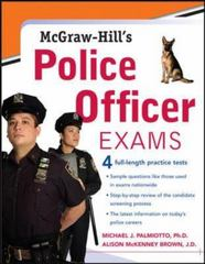 McGraw-Hill's Police Officer Exams 1st edition 9780071469807 007146980X
