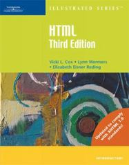HTML Illustrated Introductory 3rd edition 9780619268459 061926845X