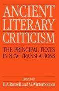 Ancient Literary Criticism 0 9780198143604 0198143605
