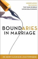Boundaries in Marriage 1st Edition 9780310243144 0310243149