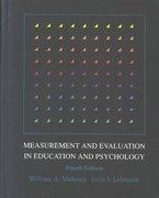 Measurement and Evaluation in Education and Psychology 4th edition 9780030304071 0030304075