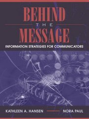 Behind the Message 1st edition 9780205386802 0205386806