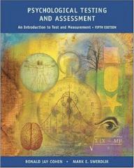 Psychological Testing and Assessment 5th edition 9780767421577 0767421574