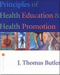 Principles of Health Education and Health Promotion 3rd Edition 9780534523749 0534523749