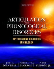 Articulation and Phonological Disorders 6th edition 9780205569267 0205569269