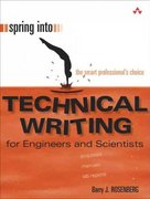 Spring Into Technical Writing for Engineers and Scientists 1st Edition 9780131498631 0131498630