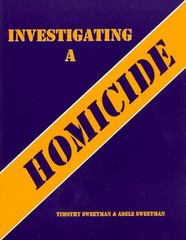 Investigating a Homicide Workbook 1st Edition 9780942728774 0942728777