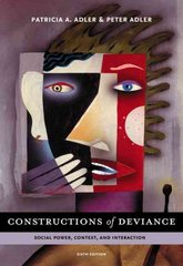 Constructions of Deviance 6th edition 9780495504290 0495504297
