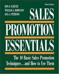 Sales Promotion Essentials 3rd edition 9780844233550 0844233552