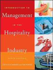 Introduction to Management in the Hospitality Industry 9th edition 9780471782773 0471782777