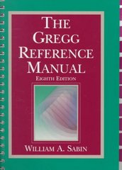 The Gregg Reference Manual 8th edition 9780028032856 0028032853