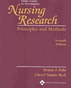 Study Guide to Accompany Nursing Research 7th edition 9780781737357 0781737354