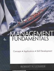 Management Fundamentals 4th Edition 9780324569643 0324569645