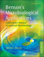 Benson's Microbiological Applications: Laboratory Manual in General Microbiology, Short Version 11th Edition 9780073522548 0073522546