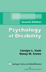Psychology of Disability 2nd Edition 9780826197597 0826197590