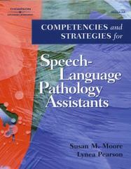 Competencies and Strategies for Speech-Language Pathologist Assistants 1st Edition 9780769302485 0769302483