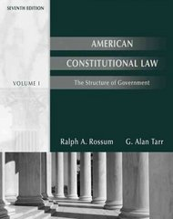 American Constitutional Law 7th edition 9780495007524 0495007528