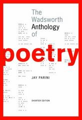 The Wadsworth Anthology of Poetry, Shorter Edition (with Poetry 21 CD-ROM) 1st edition 9781413004748 1413004741