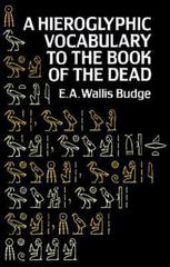Hieroglyphic Vocabulary to the Book of the Dead 2nd edition 9780486267241 0486267245