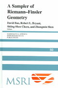 A Sampler of Riemann-Finsler Geometry 0 9780521831819 0521831814