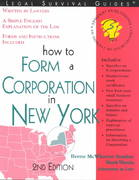 How to Form a Corporation in New York 2nd edition 9781572482494 1572482494