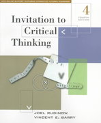 Invitation to Critical Thinking 4th Edition 9780155055629 0155055623