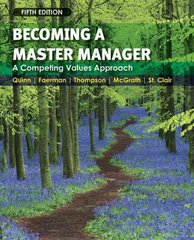 Becoming a Master Manager 5th Edition 9780470284667 0470284668