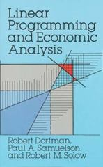 Linear Programming and Economic Analysis 0 9780486654911 0486654915