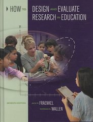 How to Design and Evaluate Research in Education 7th Edition 9780073525969 0073525960