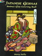 Japanese Geishas Stained Glass Coloring Book 0 9780486403663 0486403661