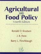 Agricultural and Food Policy 4th Edition 9780137539895 0137539894