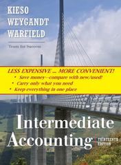Intermediate Accounting, Binder Ready Version 13th edition 9780470418321 047041832X