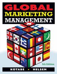 Global Marketing Management 5th Edition 9780470381113 0470381116