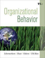 Organizational Behavior 11th edition 9780470294413 0470294418
