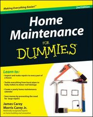 Home Maintenance For Dummies 2nd edition 9780470430637 047043063X