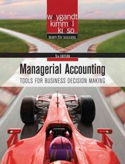 Managerial Accounting 5th edition 9780470477144 0470477148