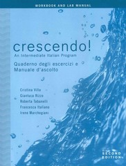 Crescendo!, Workbook and Lab Manual 2nd Edition 9780470424681 0470424680