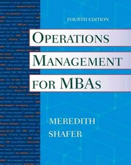 Operations Management for MBAs 4th edition 9780470485767 0470485760